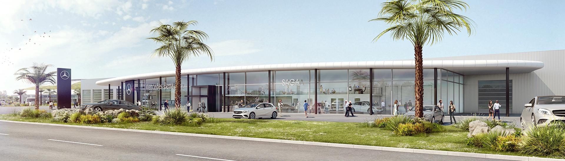 Concession SAGA Mercedes-Benz à la Roche sur Yon.