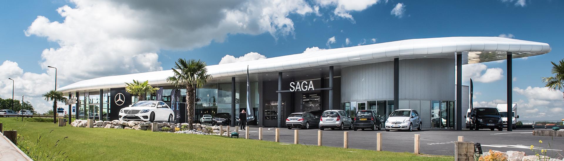 Concession SAGA Mercedes-Benz à Valenciennes dans le Nord.