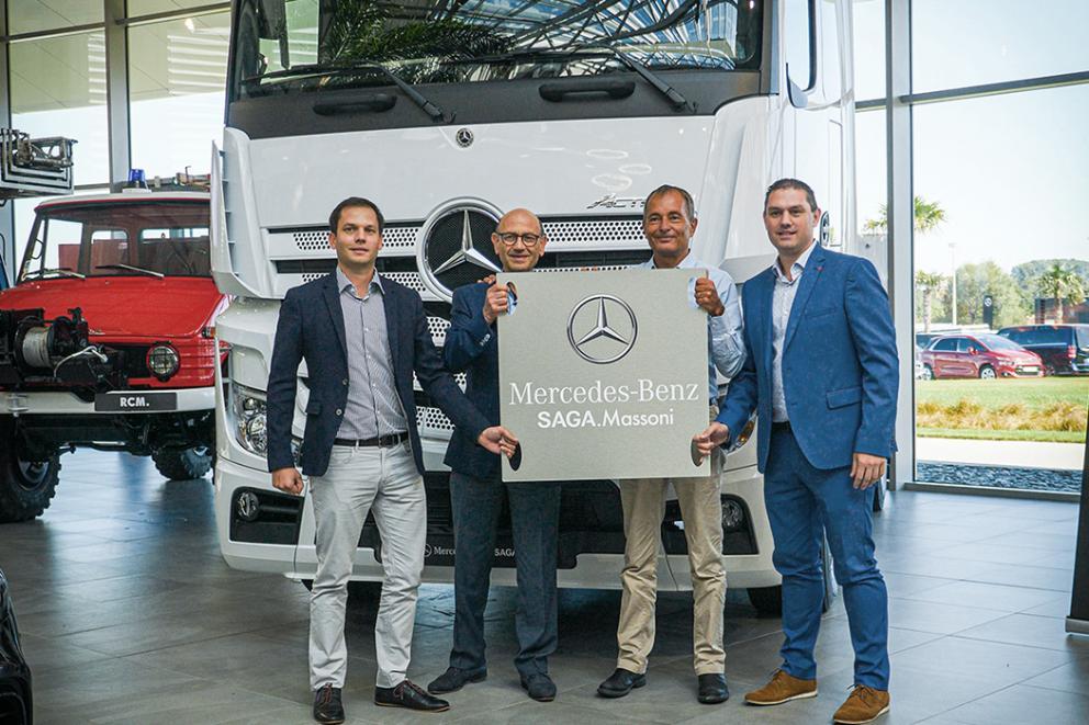 SAGA.Massoni - Rapprochement dans le Véhicule Industriel Mercedes