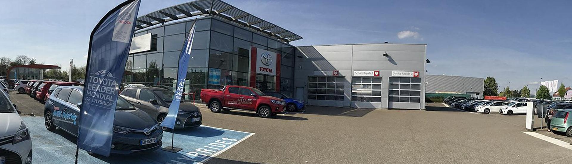 Concession TOYOTA Toys Motors à Hoenheim (57) en Alsace.