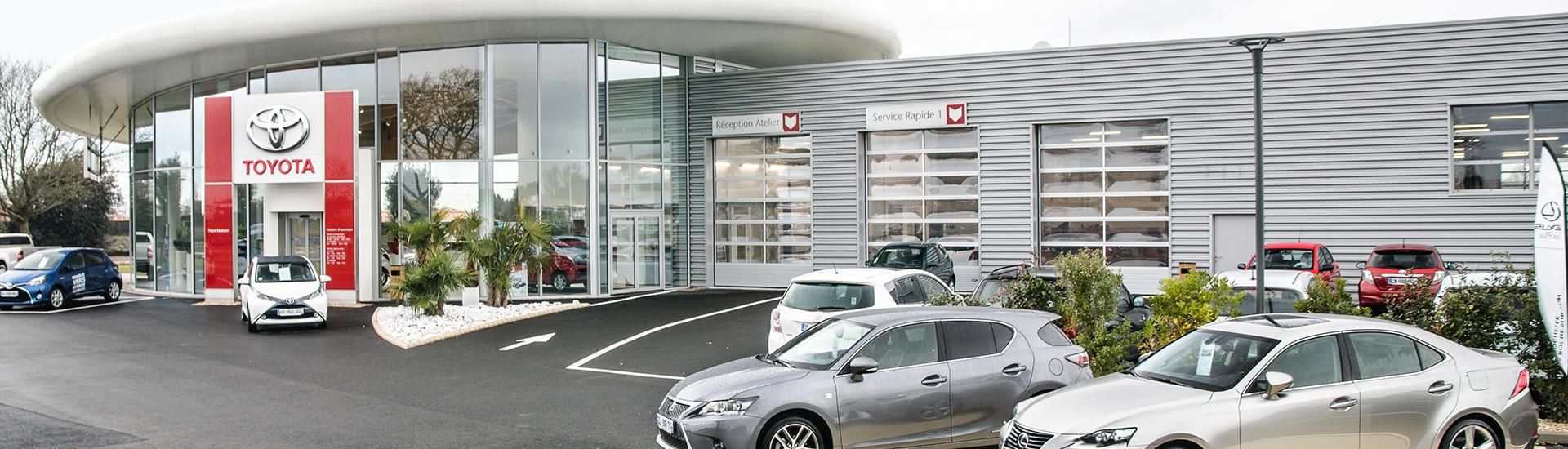 Concession TOYOTA Toys Motors aux Sables d'Olonne en Vendée.